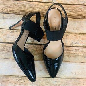 Antonio Milano Black patent leather heel Pointed